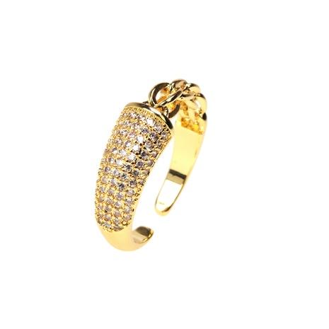anillo de apertura ajustable de empalme de circón con incrustaciones de cobre de moda NHPY344861's discount tags