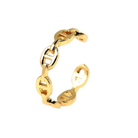 anillo ajustable de apertura de cobre de nariz de cerdo en forma de C simple NHPY344870's discount tags
