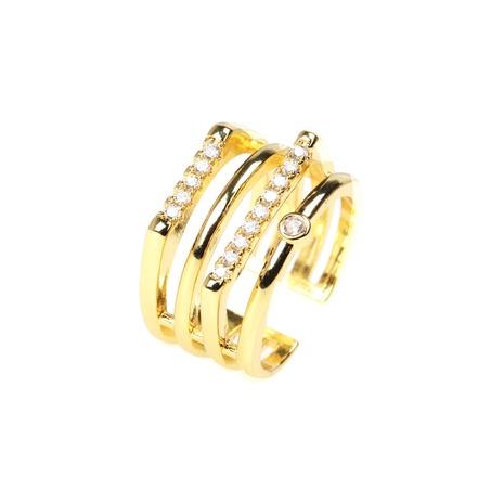 anillo de cobre de doble capa apilable con diamantes de moda NHPY344872's discount tags