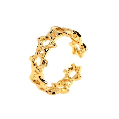 wholesale anillo de cobre de cadena de estrella de cinco puntas hueca de moda NHPY344875's discount tags
