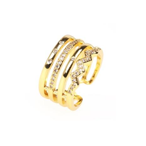 Al por mayor anillo abierto con microincrustaciones de múltiples capas de moda NHPY344878's discount tags