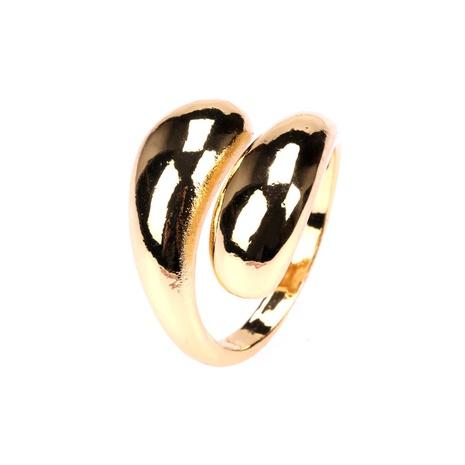 paisaje de moda anillo abierto de cobre en forma de serpiente curvada NHPY344886's discount tags