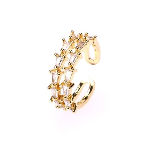 anillo de circón con incrustaciones de cobre doble ajustable de apertura de moda NHPY344894's discount tags