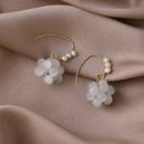 fashion freshwater pearl crystal opal grape earrings  NHMS344943