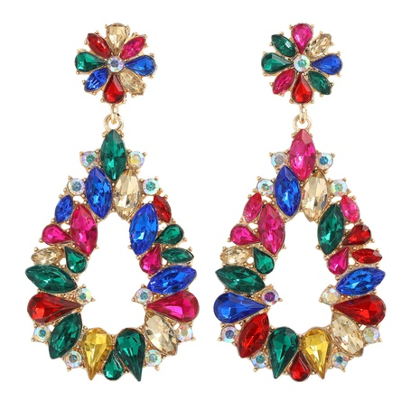 wholesale retro alloy diamond water drop earrings NHJQ345206's discount tags
