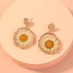 neuer modischer Blumenblumenanhängerohrring NHAN345243