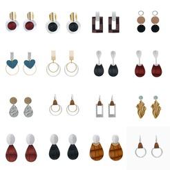Mode geometrische Leder Anhänger lange Ohrringe NHAN345262