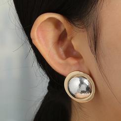 Großhandel Mode Metall runde Perlen Ohrringe NHAN345269