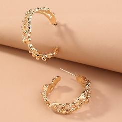 Modestil speziell geformte geometrische Retro C-förmige Ohrringe NHAN345271
