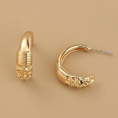Mode neuen Stil C-förmige Legierung einfache Form Ohrringe NHAN345273
