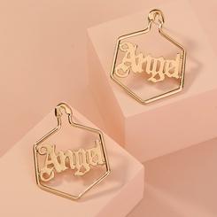 Neue Mode All-Match Engel Engel Buchstaben geometrische Ohrringe NHAN345274