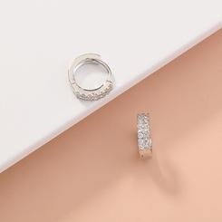 Mode einfache zweireihige Zirkon Kreis Ohrringe NHAN345276