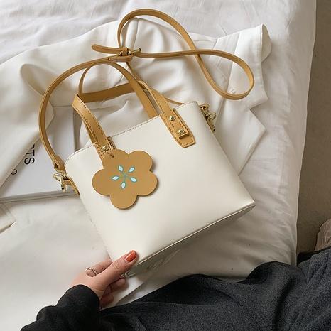 Corée fleur frappé couleur sac de panier de légumes portable sac à bandoulière de mode NHLH345433's discount tags