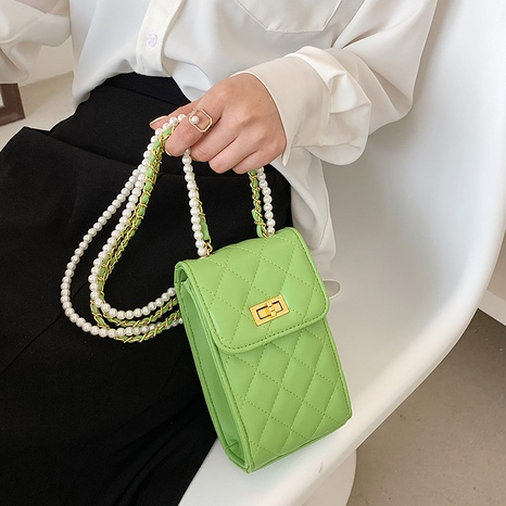 Sac bandoulière perle pour téléphone portable Sac de messager en chaîne d'été NHLH345450's discount tags