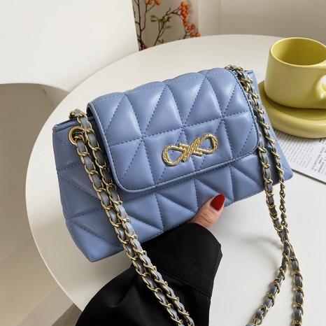 Sac à bandoulière coréen de couleur unie losange épissage sac à bandoulière NHJZ345468's discount tags