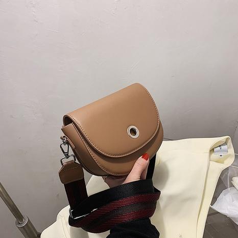 Sac messager à chaîne en toile à boucle en métal de couleur unie à la mode NHJZ345469's discount tags
