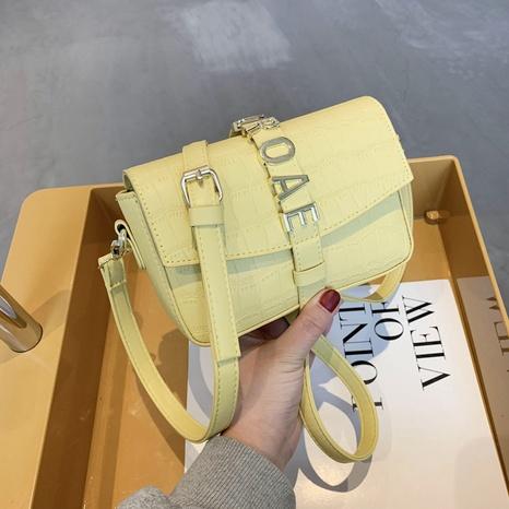 Petit sac carré à une épaule en métal de couleur unie à la mode NHJZ345477's discount tags