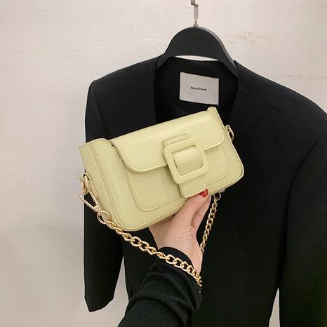 Vente en gros petits sacs carrés de couleur unie de chaîne en métal de mode NHJZ345484's discount tags