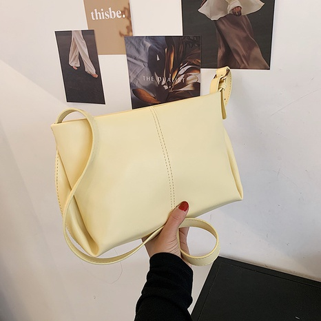 Vente en gros sac à bandoulière en cuir souple blanc coréen NHJZ345490's discount tags