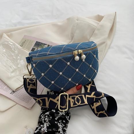 bolso de la cintura del Messange de la cadena de la lona de la cremallera del metal de la moda NHJZ345502's discount tags