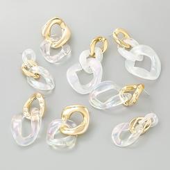 Großhandel Mode mehrschichtige Harz kettenförmige Ohrringe NHJE345504