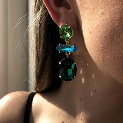 Mode New Style Diamant übertriebene Ohrringe NHMD345514