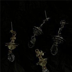 Punk Saturn Kugel hängend lange dreidimensionale Ohrringe NHYQ345529