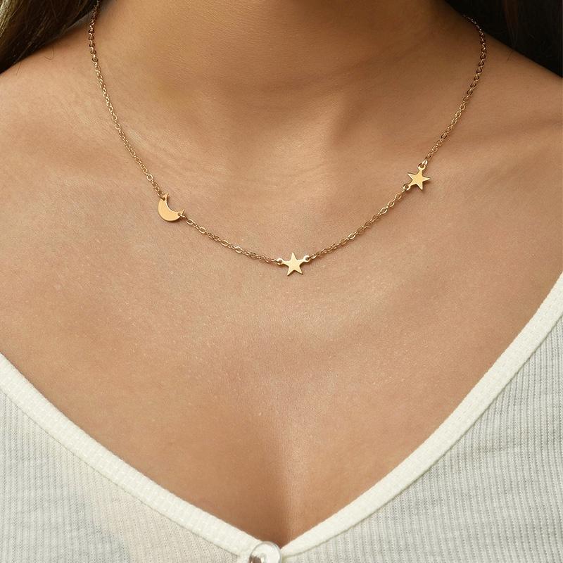 fashion new style star crescent handmade necklace NHAJ345642