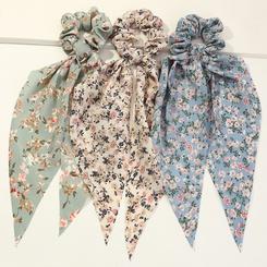 Koreanische Mode neuen Stil Blumenperle Band Schleife Haar Haargummis Set NHAU345635