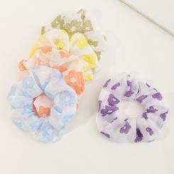 Französischer Modestil Chiffon Floral Retro Haargummis Set NHAU345623