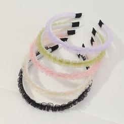 Mode koreanischen Stil faltet Spitze Strass Stirnbänder Set NHAU345584