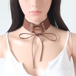 Mode breiter Samtgürtel Schnürhalsband Großhandel NHRN345645