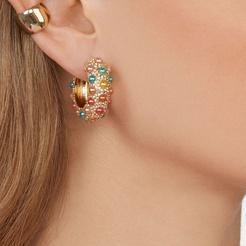 Großhandel Mode Legierung eingelegte Perlenohrringe NHYAO345654