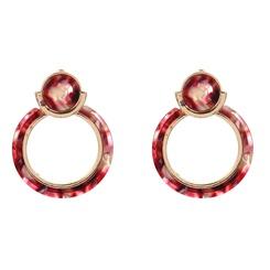 Mode geometrische Strasslegierung Ohrringe Großhandel NHYAO345656