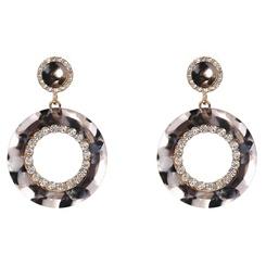 Mode geometrische Strassharzlegierung Ohrringe Großhandel NHYAO345657