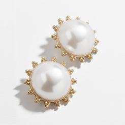 Mode Perle Blütenblatt Legierung Ohrringe Großhandel NHYAO345658