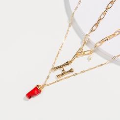 Mode Buchstabe H mehrschichtige Perlenlegierungskette Großhandel NHAN345667