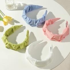 Mode einfarbig breitkrempige Falten Stirnband Großhandel NHAU345683