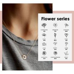 Mode Schriftzug Blume Titan Stahlkette Großhandel NHTF345688