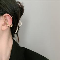 Mode geometrische Kreuz Metall Wicklung Legierung Ohrringe Großhandel NHYQ345706