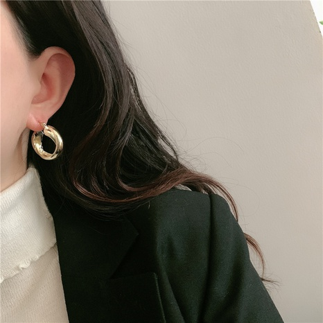 wholesale fashion cross wave circle earrings  NHYQ345707's discount tags