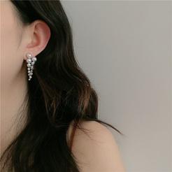 Mode Trauben Diamant Perle vergoldete Legierung Ohrringe Großhandel NHYQ345709