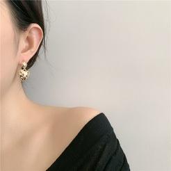 Mode Cross Star Strass Herzform Legierung Ohrringe Großhandel NHYQ345711