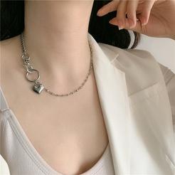 Mode Herzform Strass lange Legierung Halskette Großhandel NHYQ345712