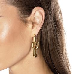 Großhandel Retro Gold Kettenglied Quaste Ohrringe NHYQ345715