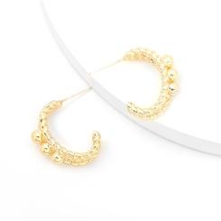 Großhandel Mode C-förmige Ohrringe aus gedrehter Legierung NHJE345720