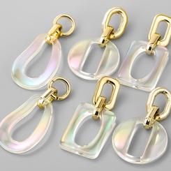 Mode geometrische Harz kettenförmige Ohrringe NHJE345723