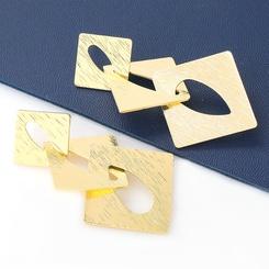 Großhandel Mode mehrschichtige hohle quadratische Legierung Ohrringe NHJE345727