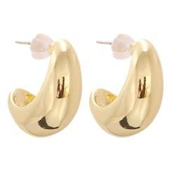 Mode geometrische quadratische Legierung Ohrringe Großhandel NHJJ345732