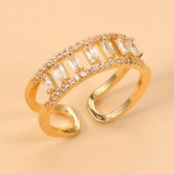 Großhandel Mode geometrischen Zirkon mehrschichtigen Ring NHJJ345736
